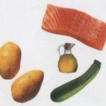 Пюре из лосося, картофеля и цукини